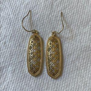 Kendra Scott Brenden gold filigree drop earrings